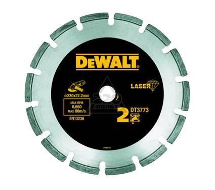 Круг алмазный DEWALT 230x22.2x2.4мм сегментный, по абразивам