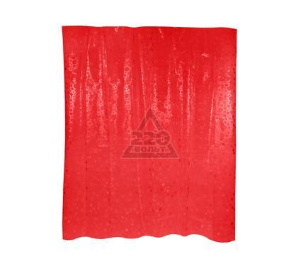Штора для ванной комнаты WESS Krugla red P514-8