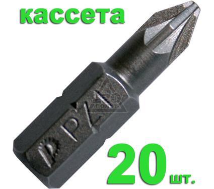 Бита ПРАКТИКА 036-636 Pz1 25мм, Профи, 20шт.