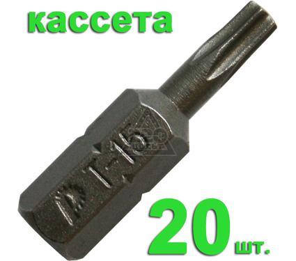 Бита ПРАКТИКА 036-650 T15 25мм, Профи, 20шт.