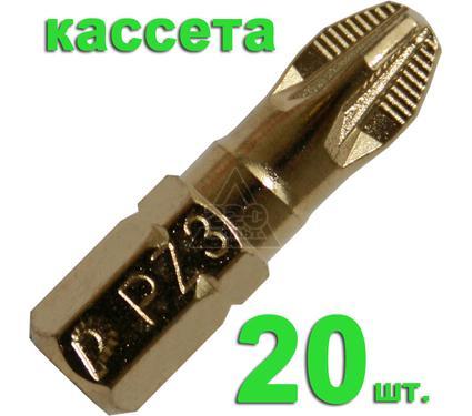 Бита ПРАКТИКА 036-919 Pz3 25мм, TiN, Эксперт, 20шт.