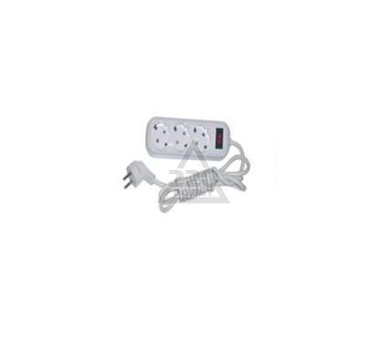 Удлинитель GLANZEN EU-03-К3Z 3 гнезда 3м ПВС 3х0.75 с выкл.