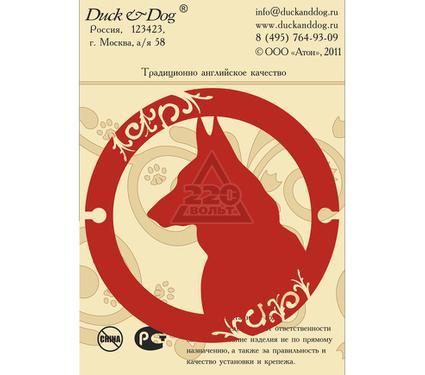 Табличка DUCK & DOG Охраняется собакой