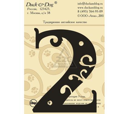 Табличка DUCK & DOG Цифра 2 110 мм
