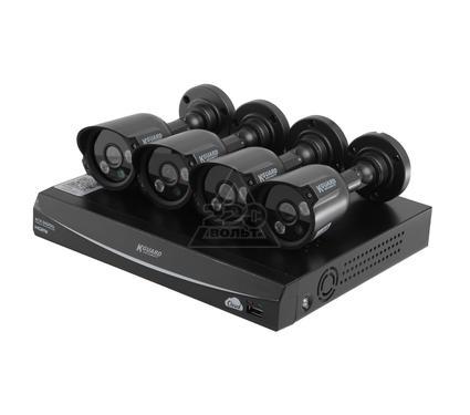Комплект видеонаблюдения KGUARD EL421-4HW212B