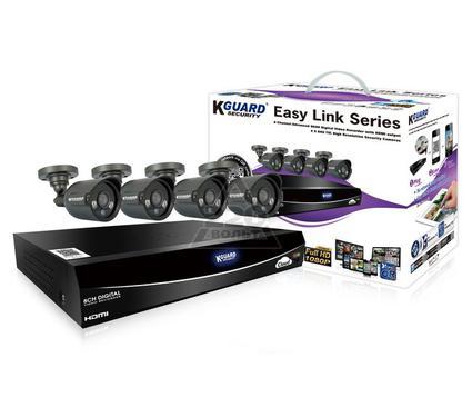 Комплект видеонаблюдения KGUARD EL821-4HW212B