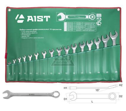 Набор комбинированных гаечных ключей в чехле, 16 шт. AIST 0010216C