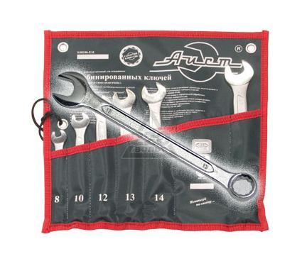 Набор комбинированных гаечных ключей в чехле, 6 шт. AIST 0011406ВX-M