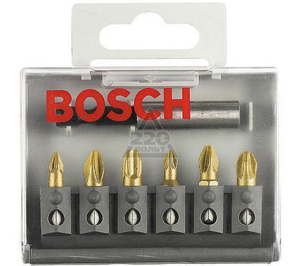 Набор бит BOSCH 2 607 001 941  MAXgrip Pz - 6шт.+держатель