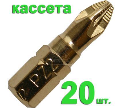 Бита ПРАКТИКА 036-902 Pz2 25мм, TiN, 20шт.
