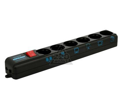 Сетевой фильтр POWERCUBE SPL(5+1)-B-15 BLACK