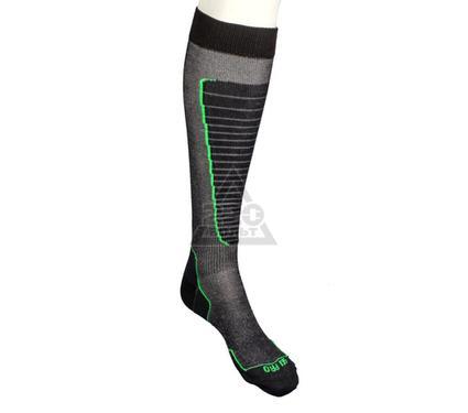 Носки горнолыжные MICO Basic ski sock цвет: 155 nero verde fluo