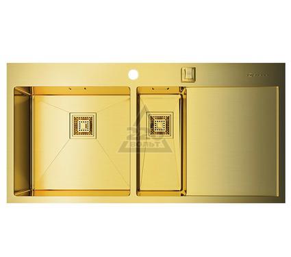 Мойка кухонная OMOIKIRI Akisame 100-2-LG-L - Светлое золото