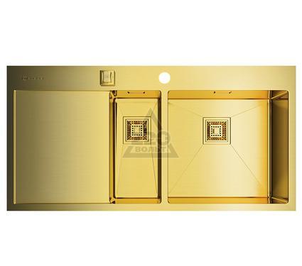 Мойка кухонная OMOIKIRI Akisame 100-2-LG-R - Светлое золото