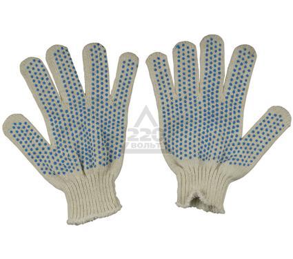 Перчатки ПВХ SKRAB х/б трикотажные вязаные, 4-х нитка, с ПВХ
