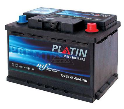 Аккумулятор PLATIN Premium 55а/ч(L+),480А,низкая