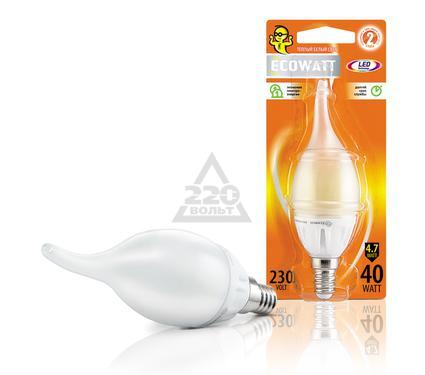 Лампа светодиодная ECOWATT BXS35 230В 4.7(40)W 2700K E14