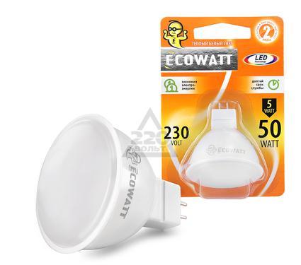 Лампа светодиодная ECOWATT JCDR 230В 5(50)W 3000K GU5.3