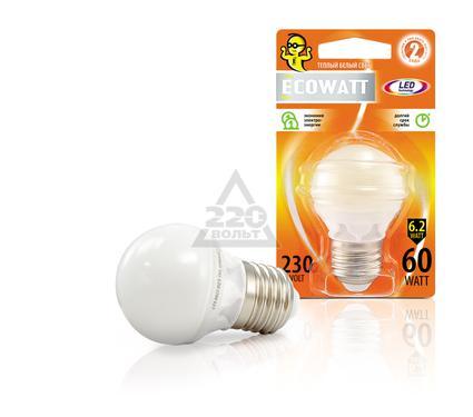 Лампа светодиодная ECOWATT P45 230В 6.2(60)W 2700K E27