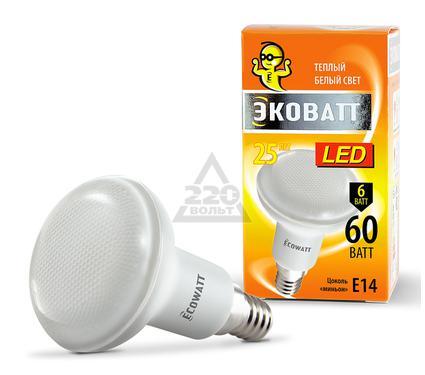Лампа светодиодная ECOWATT R50 230В 6(60)W 2700K E14