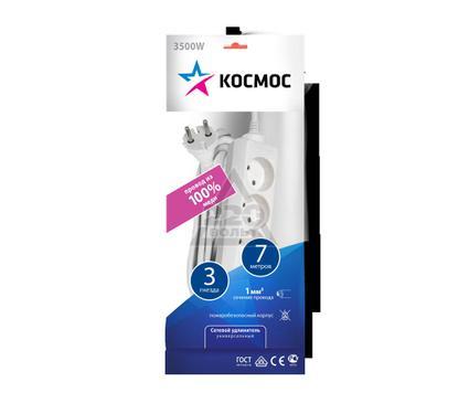 Удлинитель КОСМОС 3х7м без заземл. ПВС 2х1 YKsm7m-3g(K)