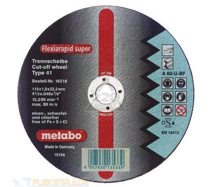 Круг отрезной METABO 616442000