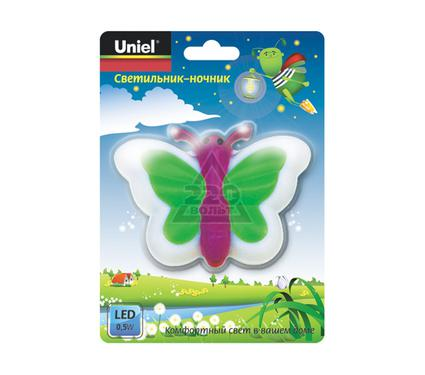 Ночник UNIEL DTL-301-Бабочка/Light green/3LED/0,5W