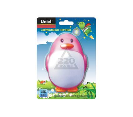 Ночник UNIEL DTL-301-Пингвин/Pink/3LED/0,5W