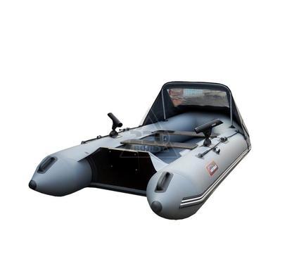 Лодка HUNTERBOAT Хантер 320 ЛК Люкс серая