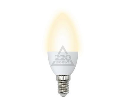 Лампа светодиодная VOLPE LED-C37-6W/WW/E14/FR/O