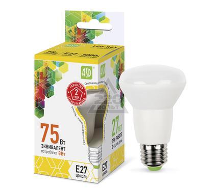 Лампа светодиодная ASD LED-R63-standard 8.0Вт 160-260В Е27 3000К