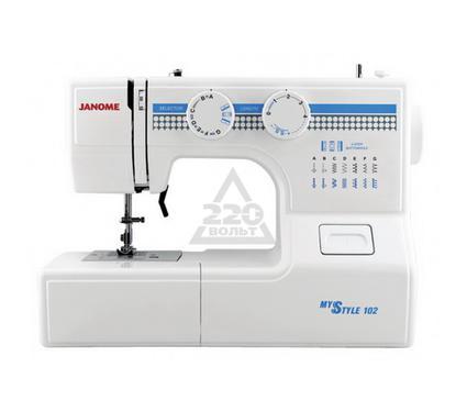 Швейная машинка JANOME 102  13операций петля п/а гориз.челнок