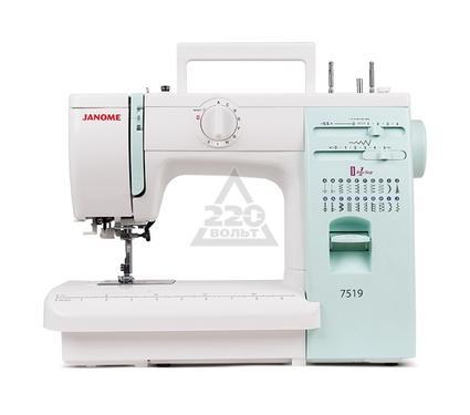Швейная машинка JANOME 7519  19операций петля авт. регул. давления мет.корпус жесткий чехол