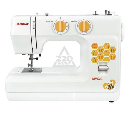 Швейная машинка JANOME MV523  15операций петля п/а  нитеобрезатель доп. подъем лапки мягкий чехол