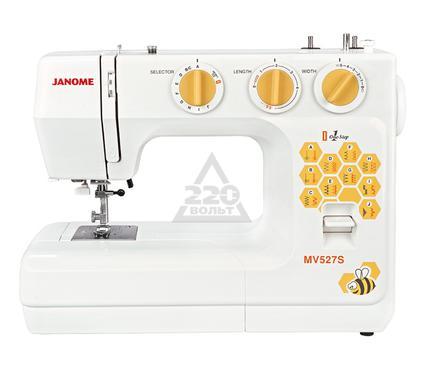 Швейная машинка JANOME MV527S  19строчек петля авт.  нитеобрезатель доп. подъем лапки жесткий чехол