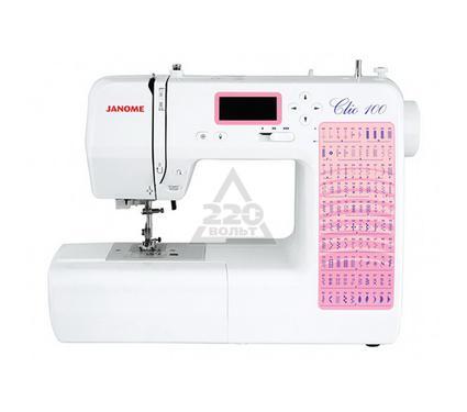 Швейная машинка JANOME Clio 100  100операций 3вида петель гор.челнок LCDдисплей LEDосвещение
