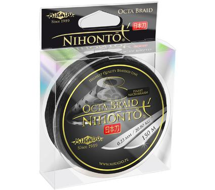 Шнур MIKADO NIHONTO FINE BRAID 0.28 black  150м