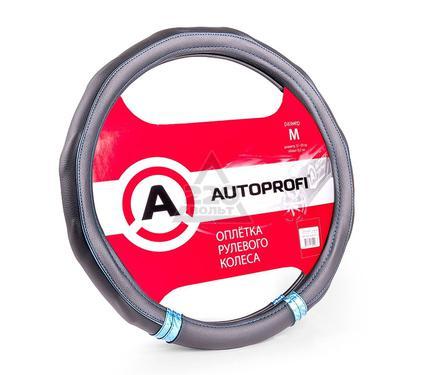 Оплетка AUTOPROFI AP-1408 BK/BL (M)