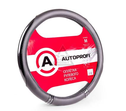 Оплетка AUTOPROFI AP-1412 BK/BK (M)