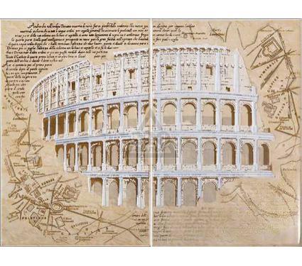 Декор-панно керамический INTERCERAMA П05031 Marmol бежевый