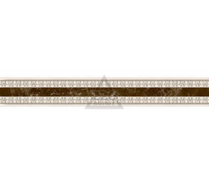 Бордюр керамический INTERCERAMA БУ66031 Emperador коричневый