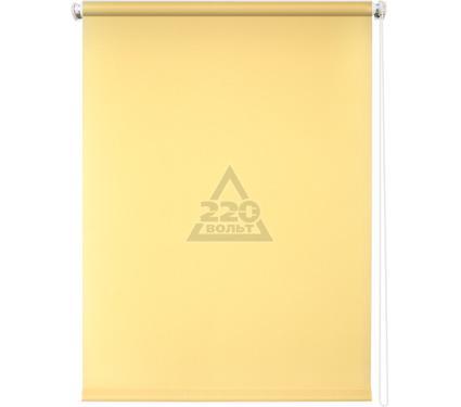 Рулонная штора УЮТ 180х175 Плайн светло-желтый