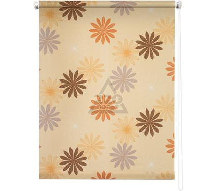Рулонная штора УЮТ 100х175 Космея оранжевый
