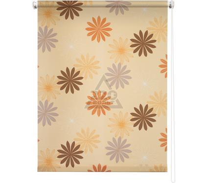 Рулонная штора УЮТ 180х175 Космея оранжевый