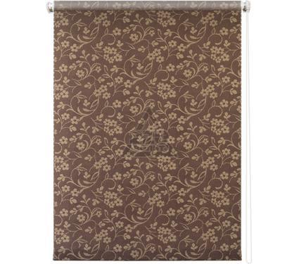 Рулонная штора УЮТ 80х175 Моравия коричневый