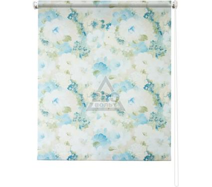 Рулонная штора УЮТ 120х175 Пионы голубой