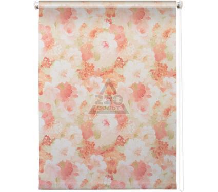 Рулонная штора УЮТ 180х175 Пионы розовый