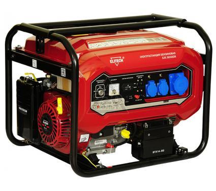 Бензиновый генератор ELITECH 181323 БЭС 8000ЕМ