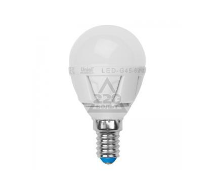 Лампа светодиодная VOLPE LED-G45-6W/NW/E14/FR/S