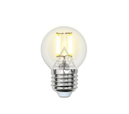 Лампа светодиодная UNIEL LED-G45-6W/WW/E27/CL PLS02WH